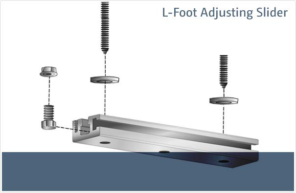 L Foot Adjusting Slider